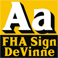 Illustration of font FHA Sign DeVinneNC