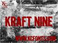 Illustration of font Kraft Nine
