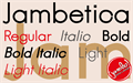 Illustration of font Jambetica