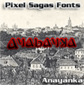 Illustration of font Anayanka
