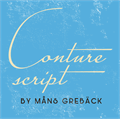 Illustration of font Conture Script PERSONAL USE