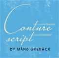 Illustration of font Conture Script PERSONAL USE