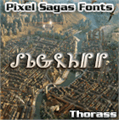 Illustration of font Thorass
