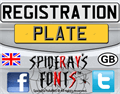 Illustration of font REGISTRATION PLATE UK