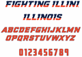 Illustration of font NCAA Illinois Fighting Illini
