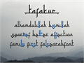 Illustration of font Tafakur