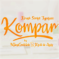 Illustration of font Kompar Thin PERSONAL USE ONLY