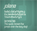 Illustration of font Jolana