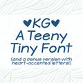Illustration of font KG A Teeny Tiny Font