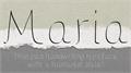 Illustration of font Maria