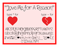 Illustration of font Love Me For A Reason