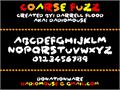 Illustration of font Coarse Fuzz