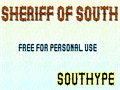 Illustration of font Sheriff of South St