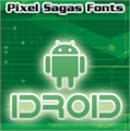 Illustration of font IDroid