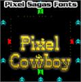 Illustration of font Pixel Cowboy