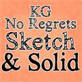 Illustration of font KG No Regrets