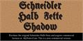 Illustration of font Schneidler Halb Fette Shadow