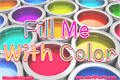 Illustration of font Fill Me With Color