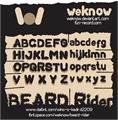 Illustration of font BEARD Rider