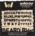 Illustration of font BEARD Rider