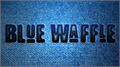 Illustration of font Blue Waffle