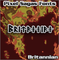 Illustration of font Britannian