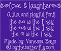 Illustration of font Love and laughter