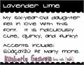 Illustration of font Lavender Lime