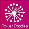 Illustration of font Janda Flower Doodles