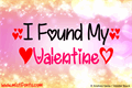 Illustration of font I Found My Valentine