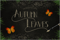 Illustration of font Autumn Leaves