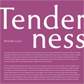Illustration of font Tenderness