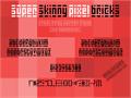 Illustration of font Super Skinny Pixel Bricks