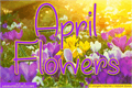 Illustration of font April Flowers
