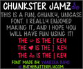 Illustration of font Chunkster Jamz
