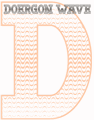 Illustration of font Doergon Wave