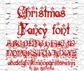 Illustration of font Christmas Fancy