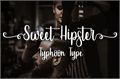 Illustration of font Sweet Hipster