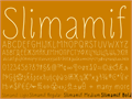 Illustration of font Slimamif