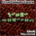 Illustration of font Giedi Maximal