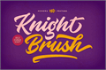 Illustration of font Knight Brush Demo