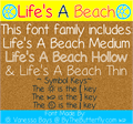 Illustration of font Life's A Beach