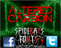 Illustration of font ALTERED CARBON
