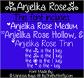 Illustration of font Anjelika Rose