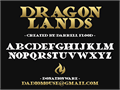 Illustration of font Dragonlands