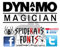 Illustration of font DYNAMO magician