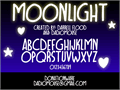 Illustration of font Moonlight