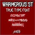 Illustration of font Warmerous St