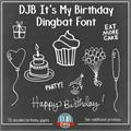 Illustration of font DJB It's My Birthday