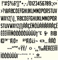 Illustration of font URGH TYPE PERSONAL USE